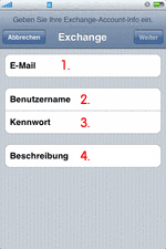 iPhone Exchange Email Konfig