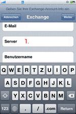 iPhone Exchange Email Server